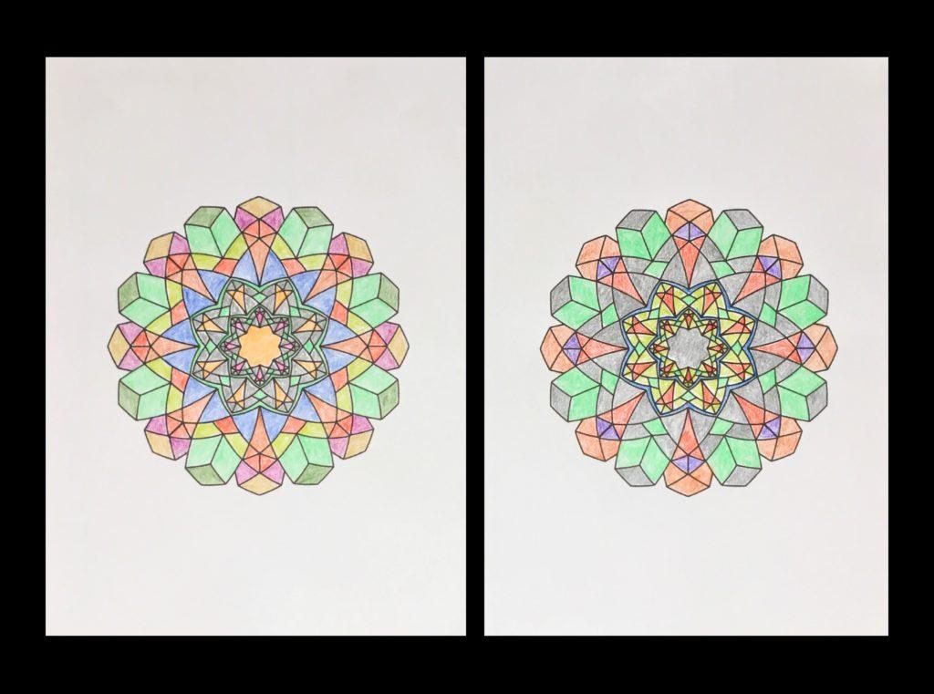高齢者の塗り絵は脳トレに最適!塗り絵の種類から効果や道具をご紹介 塗り絵作品83歳14