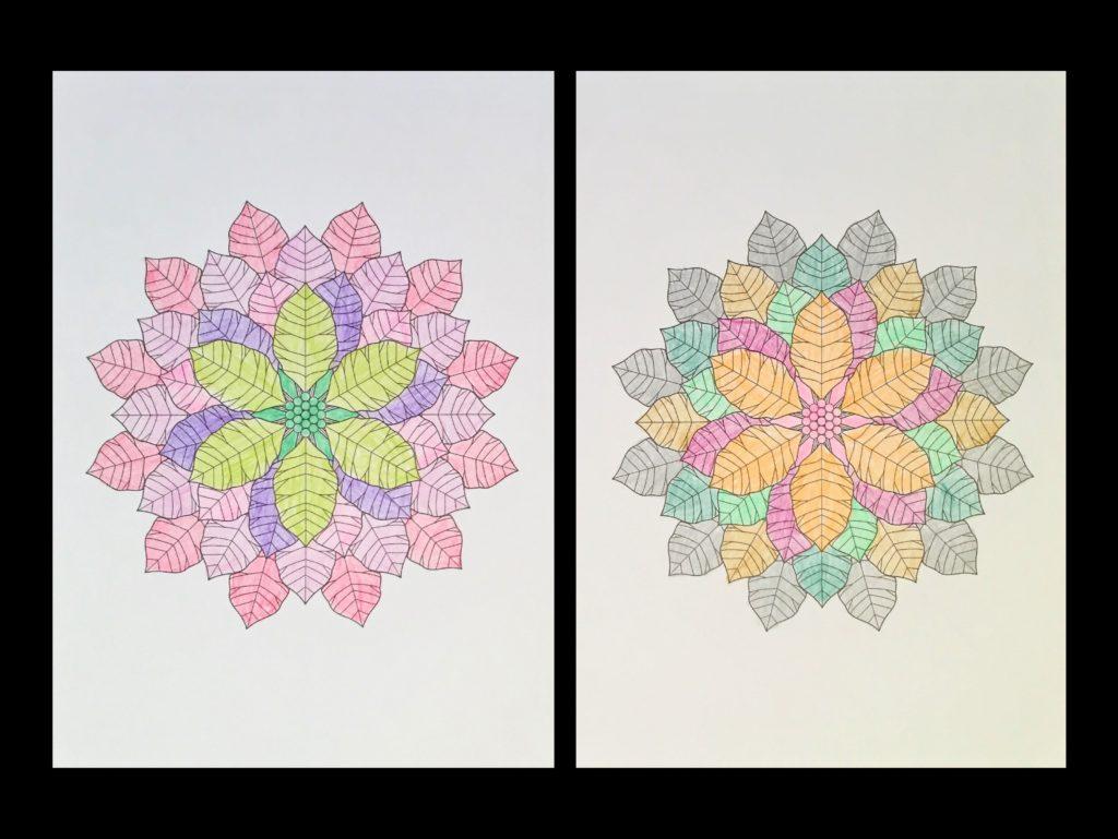 高齢者の塗り絵は脳トレに最適!塗り絵の種類から効果や道具をご紹介 り絵「花のモチーフ」02