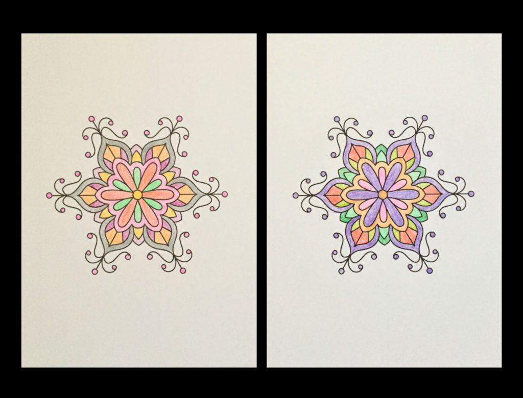 高齢者の塗り絵は脳トレに最適!塗り絵の種類から効果や道具をご紹介 り絵「花のモチーフ」03