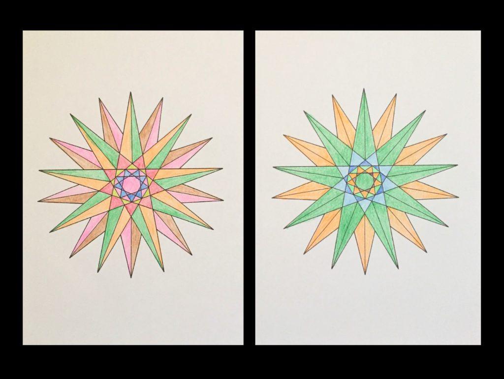 高齢者の塗り絵は脳トレに最適!塗り絵の種類から効果や道具をご紹介 塗り絵「図形」01