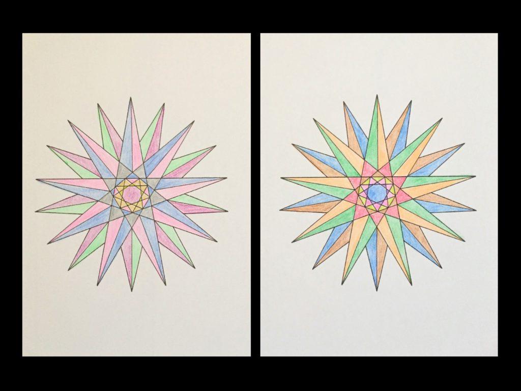 高齢者の塗り絵は脳トレに最適!塗り絵の種類から効果や道具をご紹介 塗り絵「図形」02