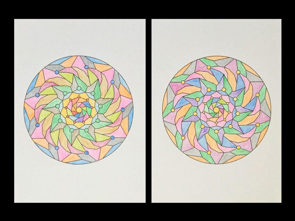 高齢者の塗り絵は脳トレに最適!塗り絵の種類から効果や道具をご紹介 塗り絵「図形」05