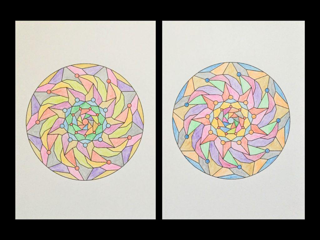 高齢者の塗り絵は脳トレに最適!塗り絵の種類から効果や道具をご紹介 塗り絵「図形」06