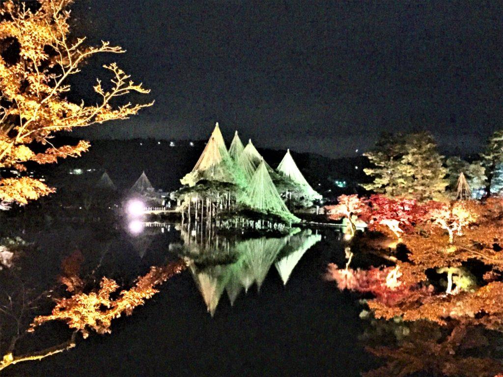 【紅葉】石川・金沢兼六園の見頃・混雑時間・駐車場やライトアップ2018について 2018霞ヶ池ライトアップ