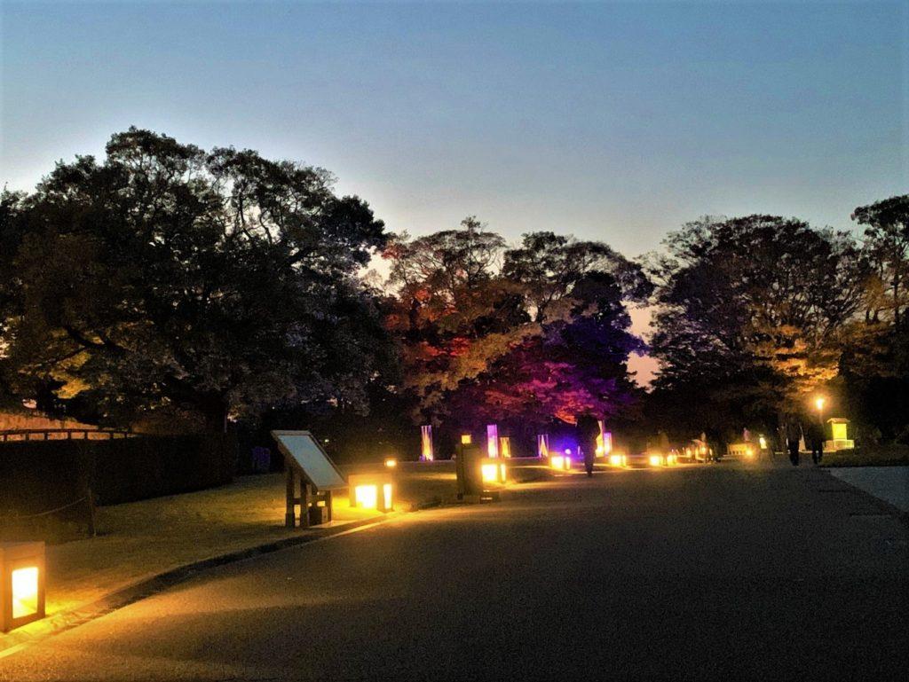 【紅葉】石川・金沢兼六園の見頃・混雑時間・駐車場やライトアップ2021について 金沢城 光のオブジェ03