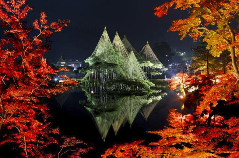 【紅葉】石川・金沢兼六園の見頃・混雑時間・駐車場やライトアップ2018について 兼六園 ライトアップ