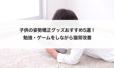 子供の姿勢矯正グッズおすすめ5選!勉強・ゲームをしながら猫背改善 タイトル画像