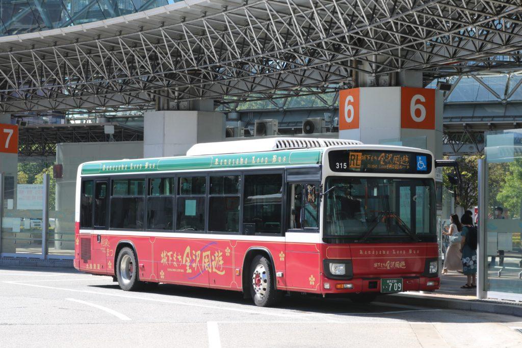 兼六園・金沢城公園など金沢観光には【バス】【自転車】がおすすめ! 城下まち金沢周遊バス 右回りルート