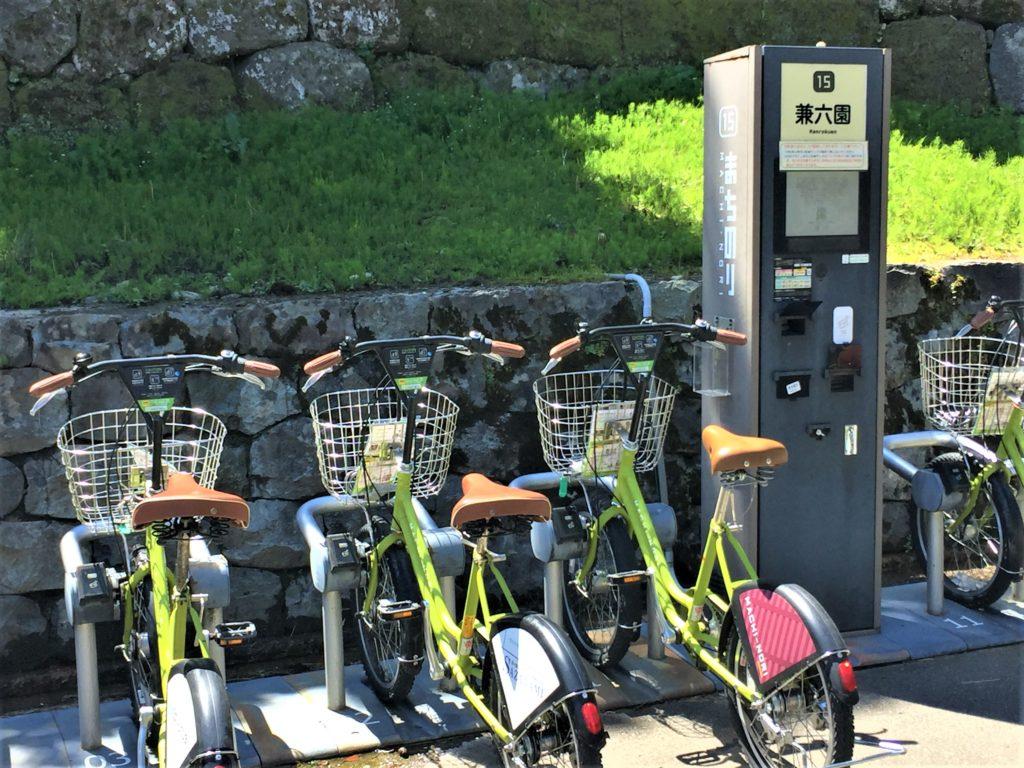 兼六園・金沢城公園など金沢観光には【バス】【自転車】がおすすめ! まちのり 兼六園サイクルポート