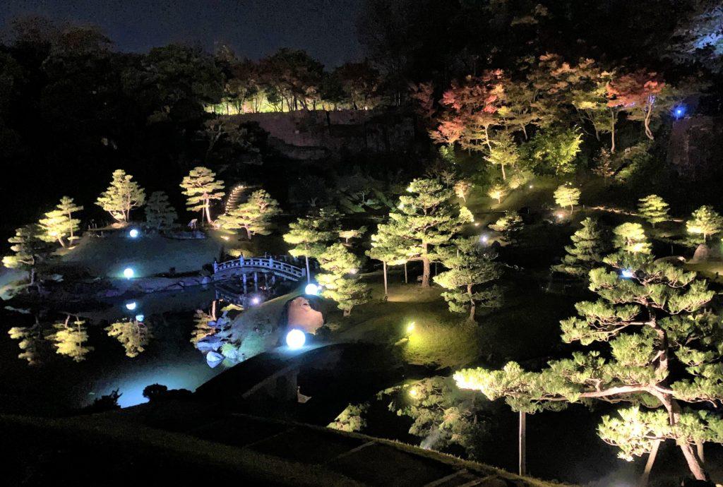 【紅葉】石川・金沢兼六園の見頃・混雑時間・駐車場やライトアップ2019について 玉泉院丸庭園 ライトアップ