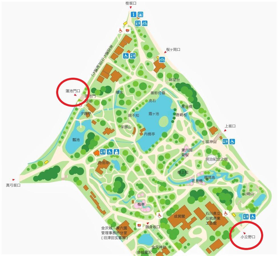 石川県金沢のホタルの観賞時期・時間帯・おすすめスポット2020 兼六園ホタル観賞会 入園口2ヶ所